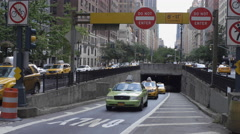 Park Ave Tunnel Manhattan Midtown New York City NYC Traffic Cars Taxi Cabs 4K Stock Footage