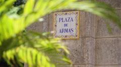 Cuba, Havana, Plaza de Armas, old Cuban square Stock Footage