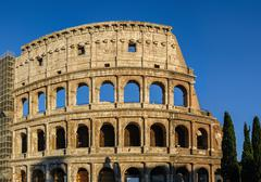 Partial view of Coliseum ruins. Italy, Rome. Stock Photos