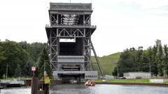 The famous Shiplift Eberswalde Finow - Germany Stock Footage