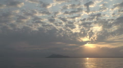 Sunrise at San Cristobal, Galapagos Islands, Ecuador Stock Footage