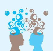 creativity and cooperation - stock illustration