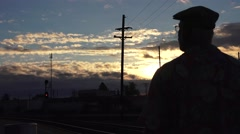 train depot, platform waiting - stock footage
