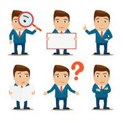 Business characters set Stock Illustration