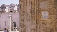 Cuba, Havana, Plaza San Francisco, Cuban church, old square Stock Footage