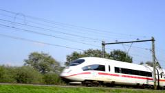 ICE high speed train Stock Footage