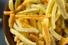 organic baked veggie straws - stock photo