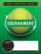 Tennis tournament template illustration Stock Illustration