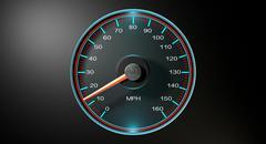 speedometer mph slow - stock illustration