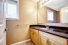 Bathroom vanity cabinet with mirror Stock Photos