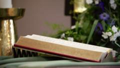 Altar bible - stock footage