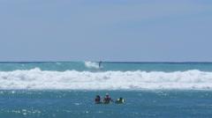 Stock Video Footage of surfer, waikiki, honolulu, oahu, hawaii