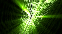 Green Star Seamless Looping Background - stock footage