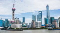 4k resolution Shanghai skyline time lapse Stock Footage