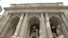 NYPL New York Public Library Manhattan NYC 4K Building Tourism Stock Footage