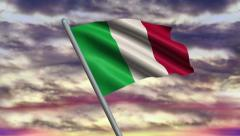 Italian Flag Animation  – 4K Resolution Ultra HD Stock Footage