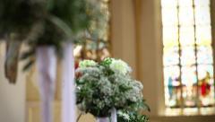 Wedding church Stock Footage