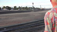 Train depot, commuter  Stock Footage