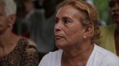 Listening to Christian Sermon in Cuba - stock footage