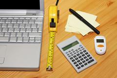 finance calculation - stock photo