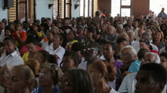 People in Church in Cuba Stock Footage