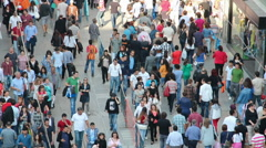 People on the Istiklal street in Istanbul - stock footage