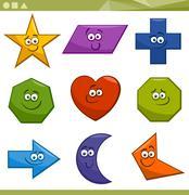 Cartoon basic geometric shapes Stock Illustration