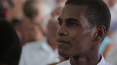 Stock Video Footage of Man in Church in Cuba