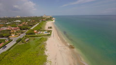 Aerial beach West Palm 2.7k cinematic Stock Footage