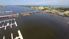 60p Aerial Downtown West Palm intracoastal Stock Footage