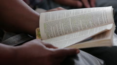 Reading Bible in Church in Cuba Stock Footage