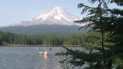 Mountain Lake Kayak Stock Footage