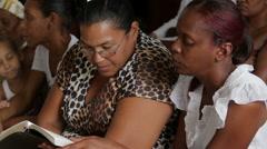 Women in Church in Cuba Stock Footage