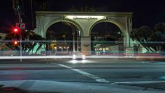 4K Paramount Studios Gate Night Timelapse Hollywood Stock Footage
