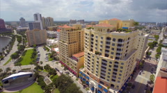 Aerial Downtown West Palm Beach Stock Footage