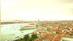 Birds Eye View Venice Travel background Italy Stock Footage