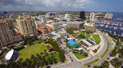 Aerial Downtown West Palm intracoastal 3 Stock Footage