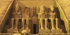 Temple of abu simbel Stock Illustration