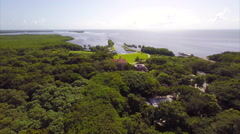 Aerial Deering Estate Miami 2.7k Stock Footage