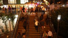 TIME LAPSE NYC NIGHT SUBWAY ENTRANCE 01 Stock Footage