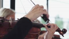 Playing the violin Stock Footage