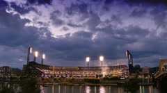 4K Evening to Night Timelapse PNC Park Pittsburgh Stock Footage