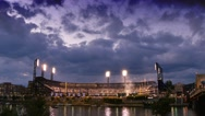 Stock Video Footage of 4K Evening to Night Timelapse PNC Park Pittsburgh