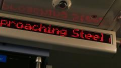 4K Subway Train Sign Stock Footage