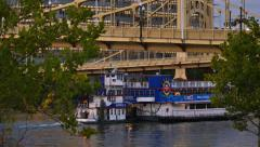 4K Pittsburgh Riverboat Stock Footage