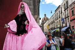 Religions in mexico - santa muerte Stock Photos