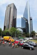 Paseo de la reforma in mexico city Stock Photos