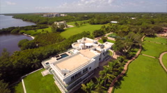 Aerial Deering Estates 2.7k Stock Footage