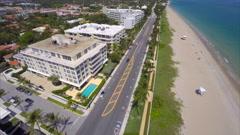 60p Hyperlapse Aerial West Palm Beach condos 2.7k Stock Footage
