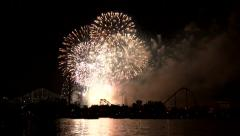Massive fireworks display at show's grande finale Stock Footage